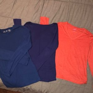 3 Long sleeve basic tops- Junior girl size Large